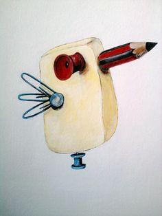 casi un pájaro, ilustración de Marta Mayo
