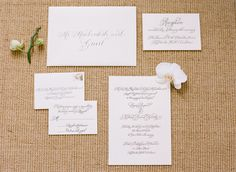 Classic invitation suite design and calligraphy by Laura Hooper.  Photo by Ali Harper.