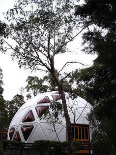 Geodesic dome house (via bacic)