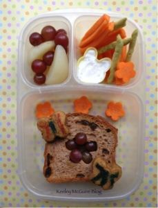 Lunch Made Easy: Bento by my six year old, Little Miss!   Gluten & Nut Free   #EasyLunchBoxes #SunButter #Udi's