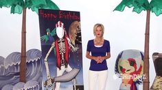 VIDEO-- Pirate Decorations - Personalized Pirate Photo Setting - by Shindigz