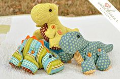 Delightful Dinos Sewing Pattern. $7.00, via Etsy.
