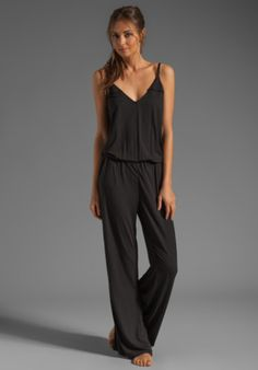 Splendid Essential Long Romper in Black from REVOLVEclothing.com