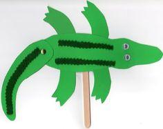 a alligator stick craft
