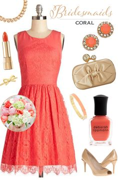 Bridesmaid Looks You'll Love: Coral