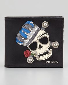 Nylon Skull Wallet by Prada at Neiman Marcus.
