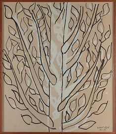 Henri Matisse - Tree, 1951, ink, gouache, and charcoal on paper mounted to canvas, 70 x 60 in. (177.8 x 152.4 cm)