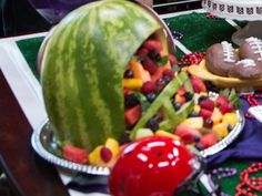 Home & Family - Recipes - Watermelon Football Helmet | Hallmark Channel