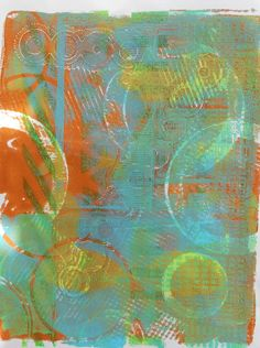 Gelli Plate on a Snow Day