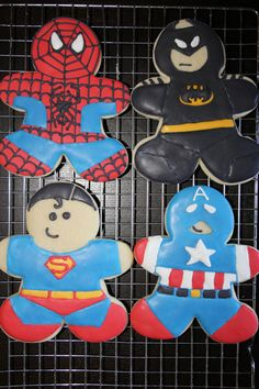 Super Hero Cookies by TheCreativeCookie on Etsy, $48.00