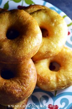 Delicious from-scratch homemade doughnuts! It doesn't get much better than this!