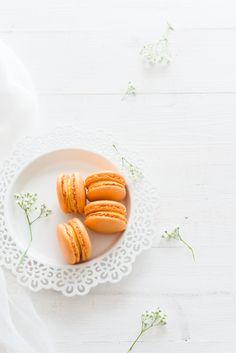... orange macarons ...