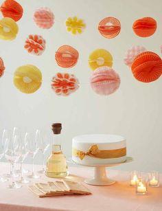 cupcake liner pom pom garland