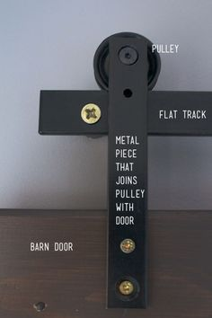 Flat track diy barn doors 4