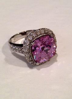 Vintage Sterling Silver Lavender Estate Jewelry Ring. $89.00, via Etsy.