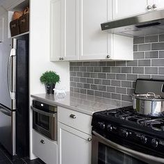Wentworth Studio - kitchens - white shaker cabinets, white kitchen cabinets, white granite, white granite countertops, w
