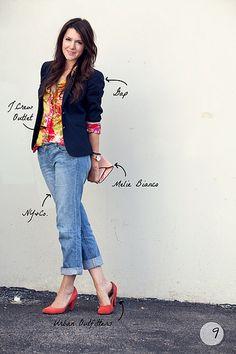 Adoro blazer e jeans
