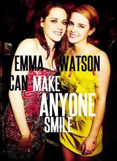 Emma Watson made Kristen Stewart smile!