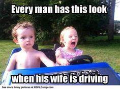When woman are driving funny for boyfriend, laugh, truck, funni thing, drive, true, humor, driving memes, funny boyfriend meme