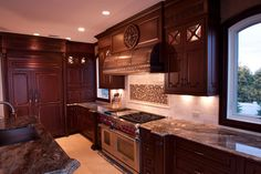 Copper vent hoods add warmth to any kitchen.
