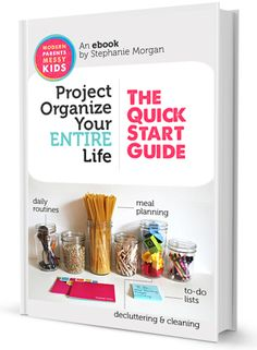 """Project Organize Your ENTIRE Life is a viral movement that started in early 2012 and has been pinned by over 400,000 people. The eBook is the culmination of everything we've learned in that time, as well as the answer to the question, """"Where Do I Start?"""". Get 10% off the $6.99 sales price with code """"January"""""""