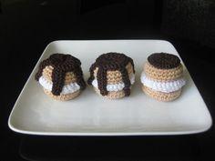 Profiterole - free pattern cake free, free pattern, free crochet, cake sachet, norma lynn, french desserts, crochet patterns, hood, whipped cream