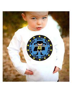 Batman SuperHero Birthday Shirt Personalized by funkymonkeythreads, $15.99