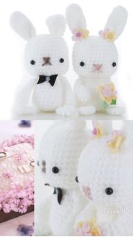 Wedding Rabbits free pattern PDF download
