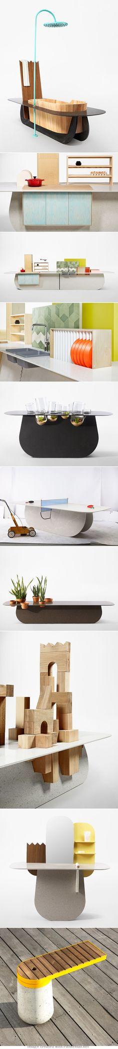 Compact furniture via RawEdges