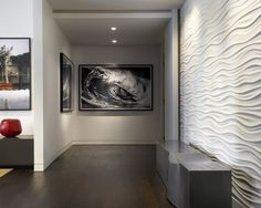 Love the texture on the walls    Home Theatre And Media Design And Installation Design, Pictures, Remodel, Decor and Ideas