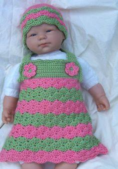 Newborn Crochet Jumper Dress