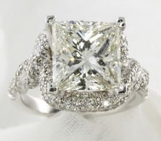 Milwaukee Presents This 5.16 CT Princess Cut Diamond Engagement Ring ...