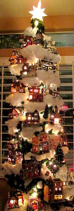 Village Christmas Tree by Randall Weidner