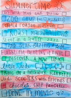 Create a summer to-do list. Such a fun idea!