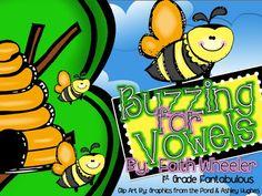 Buzzing for Vowels - Long/Short Vowel FREEBIE Center
