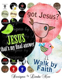 Christain sayings | CHRISTian Quotes and Sayings- (.75 Inch round) 3/4 Digital Collage ...