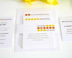 Simple and cute wedding invites