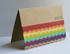 Greeting Card Rainbow Lace