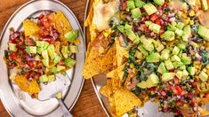 Everybody loves nachos, but these also have a nutritional boost after being loaded up with kale, corn, beans and avocado.