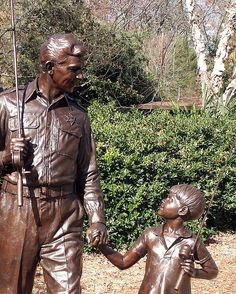 Andy and Opie...Andy Griffith and Ron Howard~Mt Airy, NC