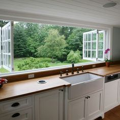 louvered windows for the kitchen