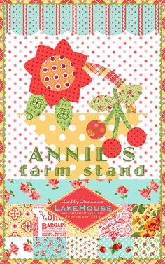 Annie's Farm Stand Fabrics graphics #Cherries