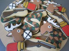 Custom Hunting-Themed Cookies as Favors