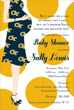 Georgia Tech Baby Shower Invitations