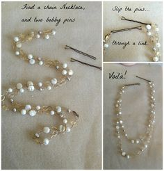 DIY hair chain accessory...easy and pretty!