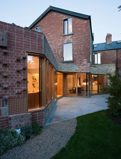 Alvar Aalto style brickwork in Ballsbridge House, Dublin, Ireland by Peter Legge Architects | Remodelista