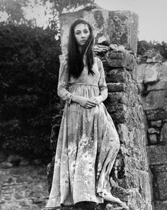 Anjelica Huston at age 16, in Ireland, 1968