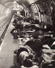 London underground during the war, 1941.