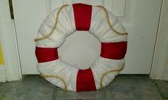 Nautical diaper wreath
