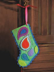 This Power Paisley Stocking is straight out of the 1960's!  You'll love the colors in this easy Christmas craft.  Go retro and have a great holiday.